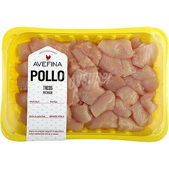 Avefina Tacos de pechuga de pollo peso aproximado Bandeja 500 g