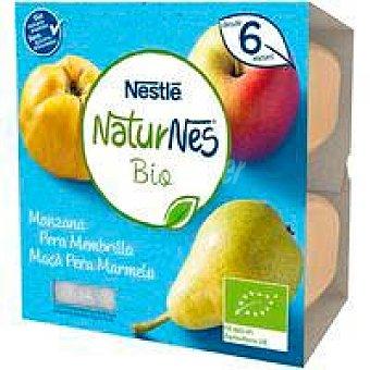 Nestlé Tarrina de manzana-pera-membrillo bio nestlé, pack 4x90 G Pack 4 x 90 g