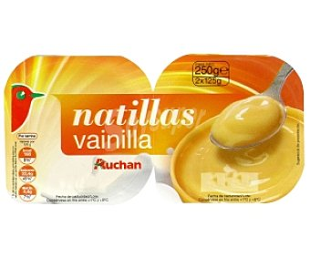 Auchan Natillas de Vainilla Pack 2 Unidades de 125 Gramos