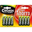 Pila super alcalina AA (LR6) 1,5v pack ahorro blister 8 unidades Cegasa