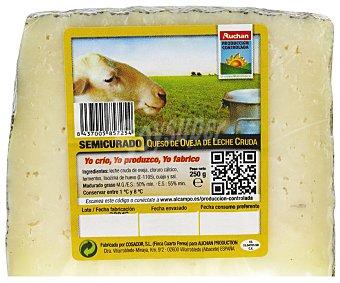 Auchan Producción Controlada Queso de oveja semicurado 250 gramos