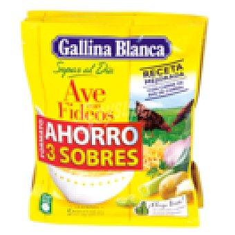 Gallina Blanca Sopa de ave con fideos Pack 3 sobres 240 GRS