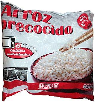 Hacendado Arroz precocido congelado Paquete 1 kg