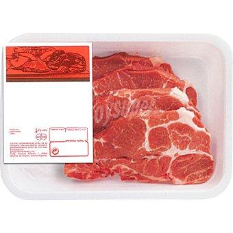 MONTAÑES Chuletas de aguja fresca de cerdo peso aproximado Bandeja 500 g