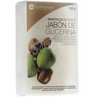 Flor de Mayo Pastilla de jabon de glicerina Manteca de Karite revitalizante y tonificante Pastilla 100 g