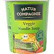 Sopa de vegetales y pasta Bio ecologica Vaso 50 g Natur Compagnie