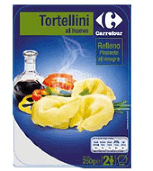 Carrefour Tortellini con pimiento rojo y balsámico 250 g
