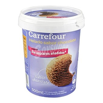 Carrefour Helado de chocolate sin azúcares añadidos 500 ml