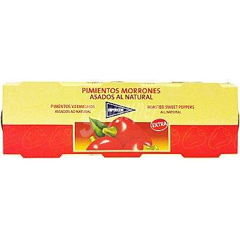 Hipercor Pimientos morrones asados pack 3 latas 60 g neto escurrido Pack 3 latas 60 g