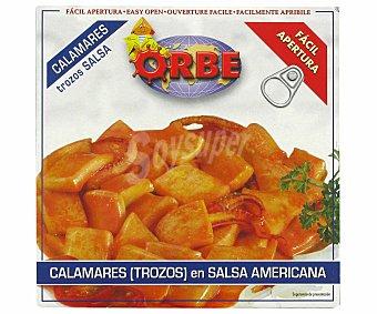 Orbe Calamares en Salsa Americana en Trozos 72g