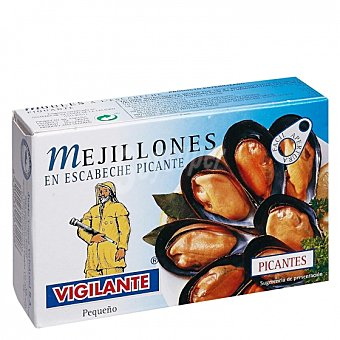 Vigilante Mejillones en escabeche picantes 70 G 70 g