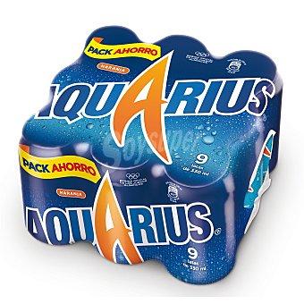 Aquarius Isotónico naranja Pack de 9x33 cl