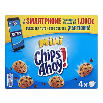 Chips Ahoy Galleta mini con pepitas de chocolate Caja 160 g (4 bolsitas)
