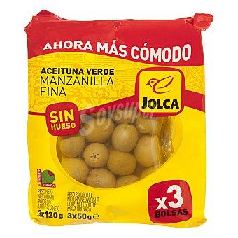Jolca Aceituna verde manzanilla sin hueso 3x50 g