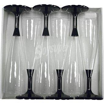 Nupik Copa con pie negro paquete 6 unidades
