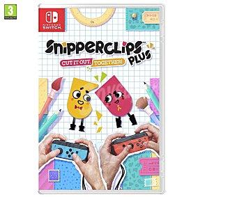 Nintendo Videojuego Snipperclips plus:¡a recortar en compañía! para Switch. Género: Puzzle: PEGI:+3