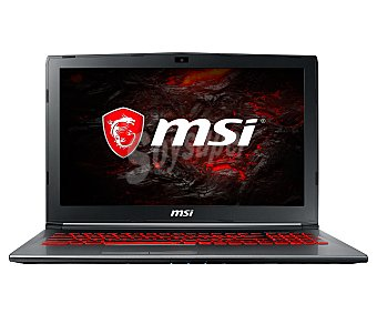 "Nvidia Portatil gaming 39,65 cm (15.6"") MSI GV62 7RD-1811ES, Intel Core i7-7700HQ, 8GB Ram, 1TB, Geforce GTX 1050 Intel Core i7-7700HQ, 8GB Ram, 1TB, Nvidia Geforce GTX 1050"