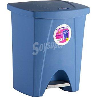Plastiken Cubo de basura con pedal color azul 1 unidad