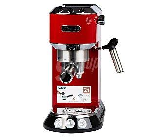 DELONGHI DEDICA EC 680.R Máquina de café espresso, presión 15 bares, café molido o monodosis, depósito extraíble de , calienta tazas, potencia 1350w 1.5L