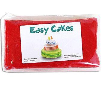 EASY CAKES Pasta de azúcar de cobertura y modelage de color rojo 250 gramos