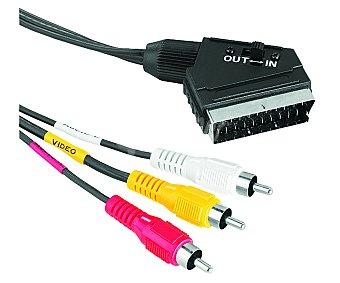 QILIVE 3RCA-EURO Cable qilive de Euroconector macho a 3RCA macho de 1.5 metros 1.5M
