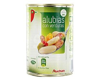 Auchan Alubias con verduras, 430 gramos