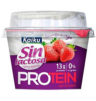 Kaiku Yogur protein sin lactosa fresa 1 unidad