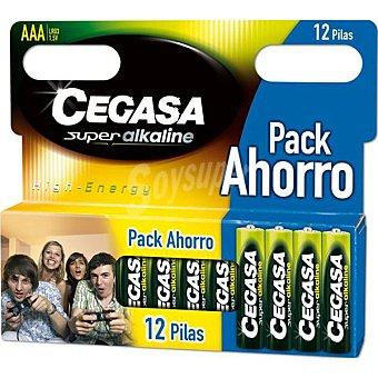 CEGASA LR03 AAA Pilas super alcalinas blister 12 unidades