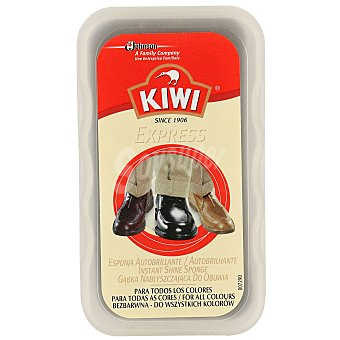 Kiwi Esponja autobrillante limpia calzados todos los colores Caja 1 ud