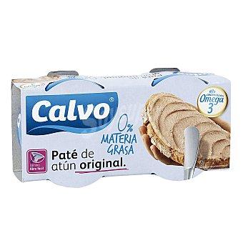Calvo Paté de atún claro 0% materia grasa neto escurrido Pack 2 latas 75 g