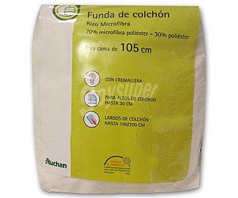 Productos Económicos Alcampo Funda de colchón de microfibra, 105 centímetros, 30 centímetros de alto alcampo