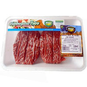Hicor Hamburguesa de potro con verduras Bandeja 420 g