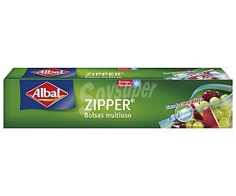 ALBAL Bolsa multiusos con cierre de zipp de tamaño grande 8 bolsas (capacidad 3 litros cada una)