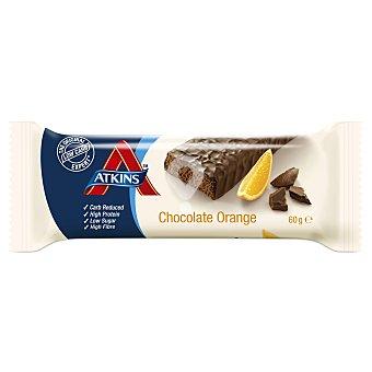 Barrita snacks de chocolate con naranja