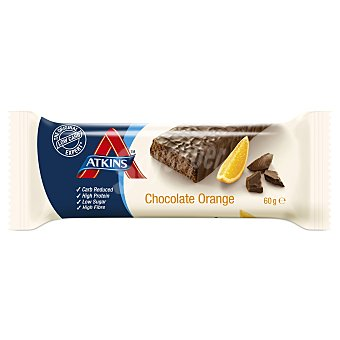 Atkins advantage Barrita snacks de chocolate con naranja Envase 60 g