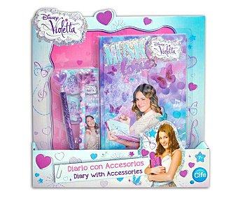 Disney Diario purpurina con accesorios Violetta 1 Unidad
