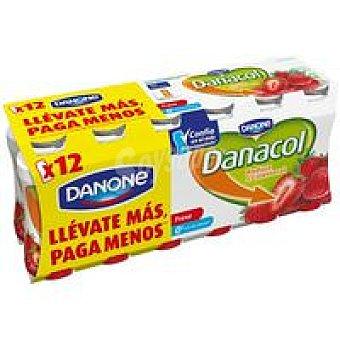 Danacol Danone Beber fresa 12x100g