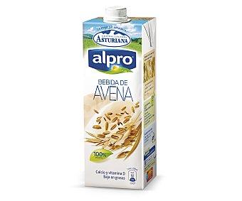 Alpro Asturiana Bebida de avena 100% vegetal baja en grasas con calcio y vitamina D  envase 1 l