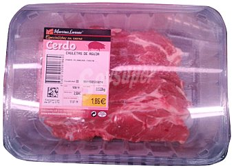 VARIOS Cerdo chuleta aguja filetes fresco Bandeja 600 g
