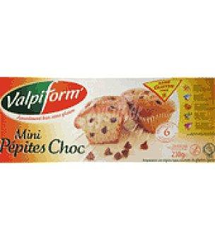 Valpiform Minibizcocho pepitas chocolate 230 g.