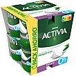 Yogur desnatado bífidus natural 0% M.G Pack 8 u x 125 g Activia Danone