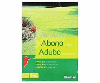Auchan Abono granulado especial para todo tipo césped 2 kilogramos