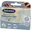 Transparent Discreet & Caring con aloe vera apósitos transparentes con efecto protector Caja 20 unidades Salvelox