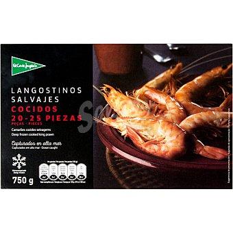 El Corte Inglés Langostino salvaje cocido 20-25 piezas Estuche 750 g neto escurrido