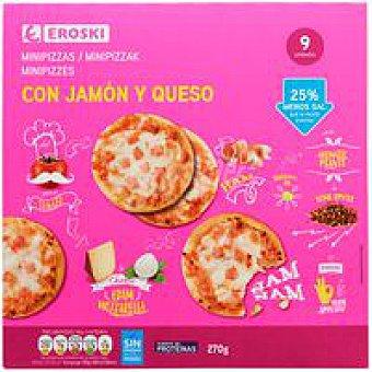 Eroski Piccinis de jamón-queso Caja 270 g