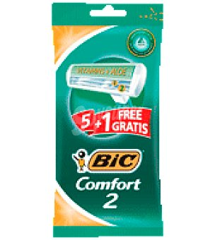 Bic Desechable Comfort2 6 ud