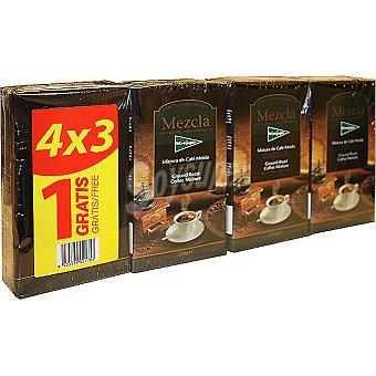 EL CORTE INGLES café mezcla molido +1 gratis pack ahorro 3 paquetes 250 g