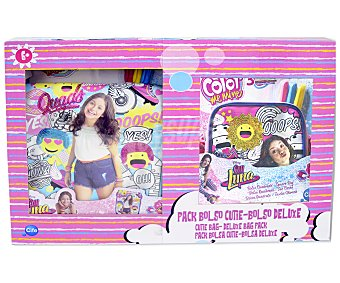 CIFE Color me mine  bolsos personalizables Soy Luna más 6 rotuladores permanentes, Color me mine CIFE. Pack de 2