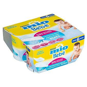 Nestlé Yogur mío bebé natural a partir de 6 meses Pack 4 x 110 g (440 g)