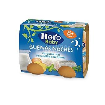 Hero Baby Cena pescadilla a la crema Buenas Noches 2x190g